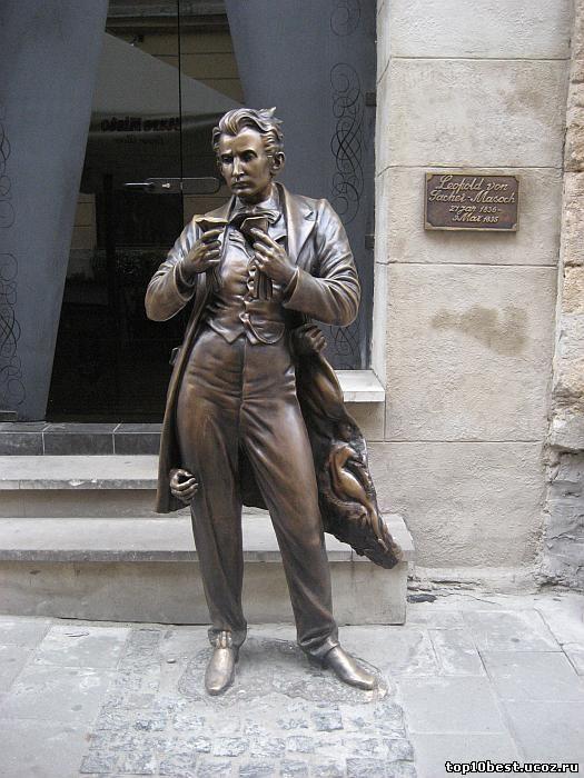 Памятник Леопольду фон Захер-Мазоху.