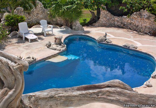 бассейн у дома - раковины